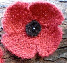 500 Poppies Project: Knitting Pattern for 500 Poppies Project
