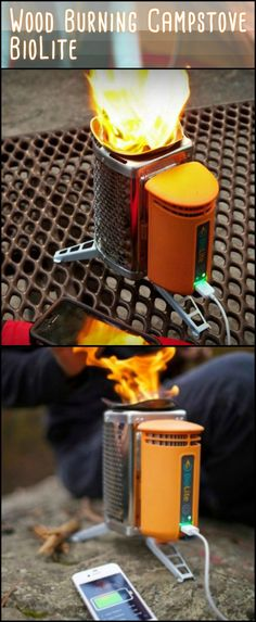 This Wood Burning Camp Stove Combines a Lightweight Backpacking Stove And an Off-Grid Power Charger