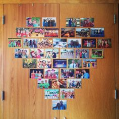 Picture heart collage dorm decor #GustavusAdolphusDorm
