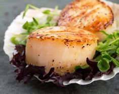 How to Sear Scallops Perfeclty Pan Seared Scallops at Home - Pan Seared Scallops at home are easy to make. Learn how to prevent your scallops from sticking and get restaurant quality crust every time! #howtosearscallops Fish Recipes, Seafood Recipes, Appetizer Recipes, Great Recipes, Cooking Recipes, Favorite Recipes, Healthy Recipes, Eat Healthy, Delicious Recipes