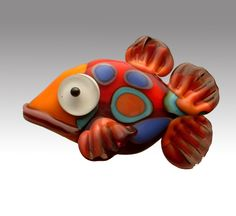 Spotted Shovelnose Fish Bead. from Aardvark art glass