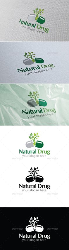 Natural Drug Logo Template — Vector EPS #eco #nature • Available here → https://graphicriver.net/item/natural-drug-logo-template/9160165?ref=pxcr