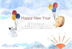 風船とねずみ年賀状 Happy New Year, Movie Posters, Happy New Years Eve, Film Poster, Film Posters