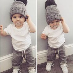 Newborn Toddler Infant Kids Baby Boy Clothes T-shirt Tops Pants Outfits Set So Cute Baby, Baby Kind, Cute Kids, Cute Babies, Baby Baby, Baby Girls, Fashion Kids, Baby Boy Fashion, Toddler Fashion
