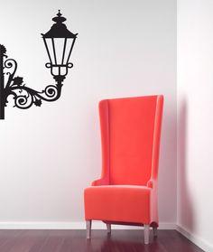 Hanging Street Lamp - Vinyl Wall Art Decal. $32.00, via Etsy.
