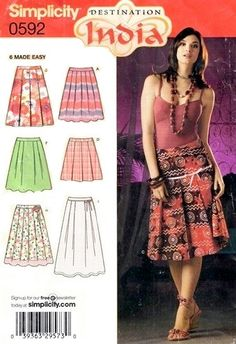 Destination India  EASY SKIRT Sewing Pattern - SOLD!