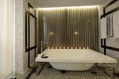 Grand Suite Bath at the Hotel Unico in Madrid, Spain Luxury Hotel Bathroom, Hotel Bathrooms, Madrid, Deep Soaking Tub, Marble Wall, Floor To Ceiling Windows, At The Hotel, Shower Heads, Photo Galleries
