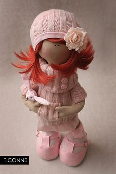 another amazing handmade doll by @Tatiana Bowe Bowe Bowe Conne #handmade #doll #pink #girl Bebe Staff, Doll Crafts, Diy Doll, Doll Clothes Patterns, Doll Patterns, Doll Toys, Baby Dolls, Fabric Toys, Sewing Dolls