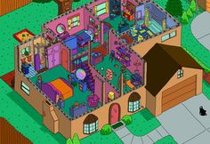 Simpsons House Cutaway Second Floor by ajdelong.deviantart.com on @deviantART