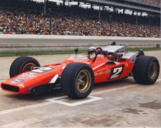 Mario Andretti STP Hawk Ford, Winner 1969 Indianapolis 500 (IMS Archives)
