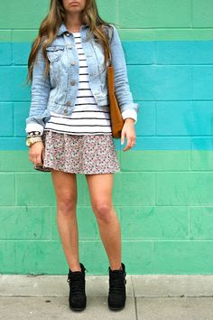 Stripes + Florals = Perfectly Mixed Prints