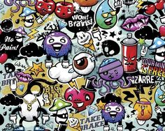 Create a stunning feature wall in any room of your home with the Ohpopsi's Graffiti Monster Wall Mural. Contemporary, colourful, playful and bold, the graffiti monster wall mural will be sure to add a design edge to any interior. This mural is both easy to install and suitable for use in any room of the house. Supplied complete with a full set of easy to follow hanging instructions, hanging your mural couldn't be easier. Simply cut off each strip of your mural following the cut guidelines...