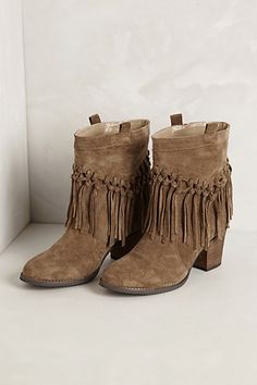 Knotted Fringe Booties #anthropologie