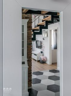 Bajkowe Wnętrza: Poudre by Shoko Design Loft Interior Design, Loft Design, Minimalist House Design, Minimalist Home, Loft House, House Rooms, Apartment Interior, Home Interior, Small Loft Apartments