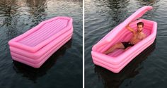 It's the summer accessory everyone is dying to have! Canadian designer Andrew Greenbaum and colleague Ian Felton have launched a pool float with a macabre