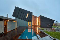 Le bureau d'étude Snøhetta vient de terminer la conception de maison près de la ville norvégienne de Larvik.