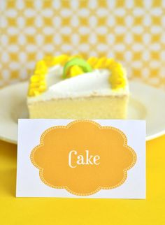 Yellow Sunshine Birthday Party PRINTABLE Food Labels by lovetheday, $8.00