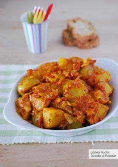 Patatas Bombay: receta de aperitivo o guarnición - Vegetarian Appetizers, Finger Food Appetizers, Kitchen Recipes, Potato Recipes, I Foods, Food And Drink, Veggies, Yummy Food, Delicious Recipes