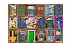Puzzle Bluebird - Dominic Davison: Doors Of USA, piese Blue Bird, Puzzle, Doors, Cabinet, Usa, Retro, Painting, Slab Doors, Jelly Cupboard