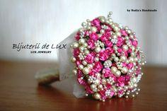 wedding pearl handmade bouquet