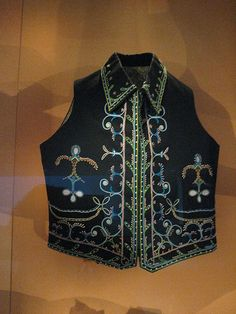 Vest by unforth, via Flickr  Maliseet people  New Brunswick or Nova Scotia, Canada  c. 1930  Wool cloth, glass beads  Item number: 18/6978