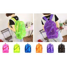 Men's Bags Harajuku Cute Kawaii Pvc Transparent Rivet Backpack Mini Backpack We Have Won Praise From Customers