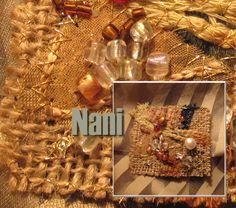 Broche tapiz   Arpillera, gasa, algodón, seda, rocalla, cris…   Flickr - Photo Sharing!