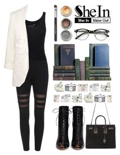 """""""Contest"""" by yesanastasia1919 ❤ liked on Polyvore featuring Juvia, Bare Escentuals, Gianvito Rossi, Yves Saint Laurent, Sheinside and shein"""