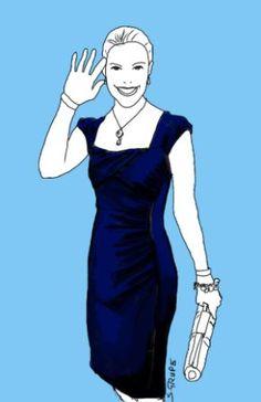 Warum dieses nachtblaue Etuikleid besonders die Frau mit X-Figur schlank macht, lesen Sie im Blog der Modeflüsterin!