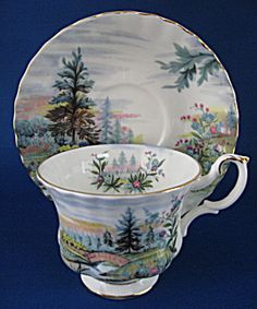 Royal Albert Country Scenes Dovedale Cup And Saucer