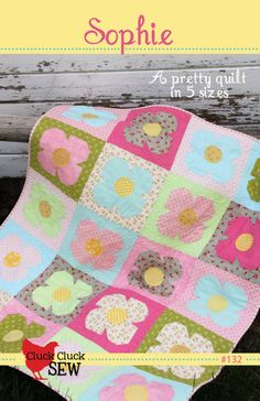 A beautiful quilt, sure to please any girl, young or young at heart. Uses 1/3 yard cuts of the main fabrics. Comes with directions for five sizes.