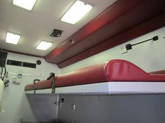 Inside vehicle Rescue Vehicles, Ambulance, Land Cruiser, Track Lighting, Clinic, Military, Ceiling Lights, Cabinet, Design