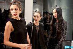 Angela Pham, Chantal Chadwick, and Claudia Martinez Reardon showcase the many shades of black.