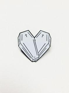 love you to death pin  nu goth pastel goth punk goth grunge hipster fachin pin accessories under10 under20 under30 coffin cross storenvy