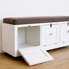 kitchen banquet seating (BLANKET by Maresa Patterson for NUBE HOME Swiss Army Storage Bench)