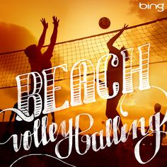 Take your bump, set, spike surfside. #BeachVolleyballing #Competing #SummerofDoing Typography by Lindsay Brillson