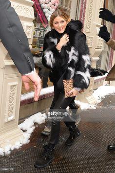 Model Olivia Palermo is seen walking in Soho on February 9, 2017 in New York City.