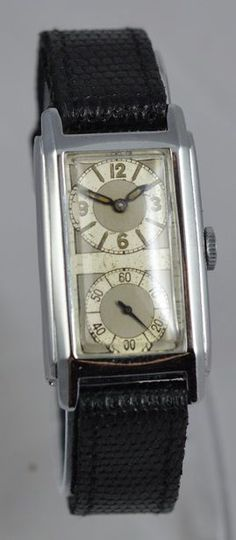 Vintage Watches For Men, Unique Watches, Art Deco Watch, Florida Style, Automatic Watch, Art Deco Fashion, 1930s, Clock, Mens Fashion