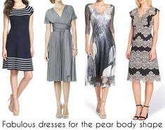 best dresses for pear shaped women | 40plusstyle.com