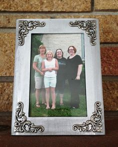 Silver embellished picture frame by MadeByMicky