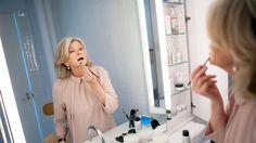 The Martha Stewart Beauty Regimen: Fitness, Skin Care and Diet } like the shelves in the bathroom