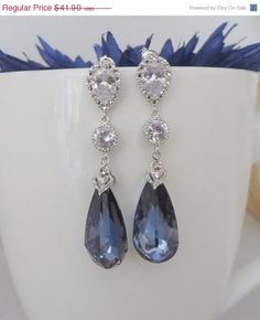 Bridal Event Saphire  Bridal JewelryBridal Earrings by MaciDesign, $37.71