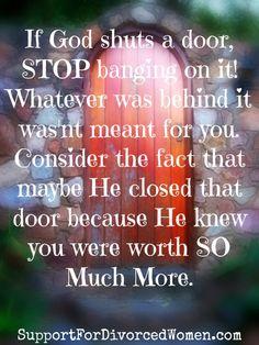 Walk away from that door! -divorce-