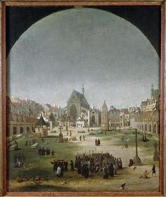 le cimetière des Innocents, Jakob Grimer (attribué à), Musée Carnavalet - Histoire de Paris, vers 1570