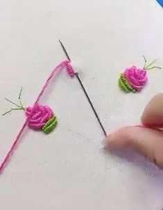 Creative Embroidery Skills 😍 Creative ideas about embroidery and stitching. Hand Embroidery Videos, Embroidery Stitches Tutorial, Sewing Stitches, Hand Embroidery Patterns, Embroidery Techniques, Sewing Techniques, Silk Ribbon Embroidery, Crewel Embroidery, Cross Stitch Embroidery