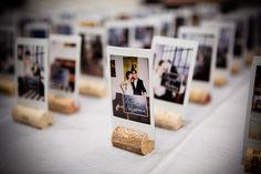 Place cards , unique , Cork, Polaroid wedding, philadelphia