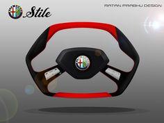 RATANDESIGNZ: Alfa Romeo Stile Concept Steering Wheel Design