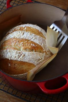 """My new favorite way to make bread...it's the best """"rustic"""" bread I've made so far."""
