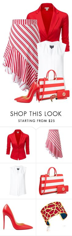 """""""Untitled #6763"""" by barbarapoole ❤ liked on Polyvore featuring Doublju, WithChic, Derek Lam, Christian Louboutin and Les Georgettes"""
