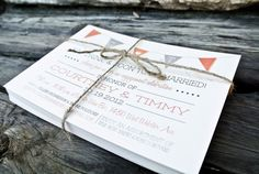 Wedding Invitation Woodland Rustic Banner and by WideEyesDesign, $2.00